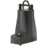 Little Giant 505486 5-MSP 115V 60Hz - 1/6 HP, 1200 GPH - Submersible Utility Pump (black), 10' powercord